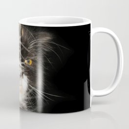 Fluffy Calico Cat Coffee Mug