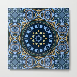 Ethnic mandala (Water) Metal Print