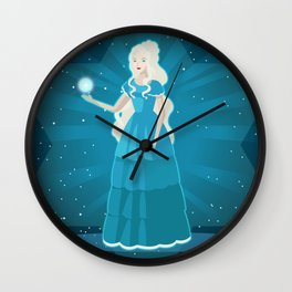 pleiadian alien woman Wall Clock