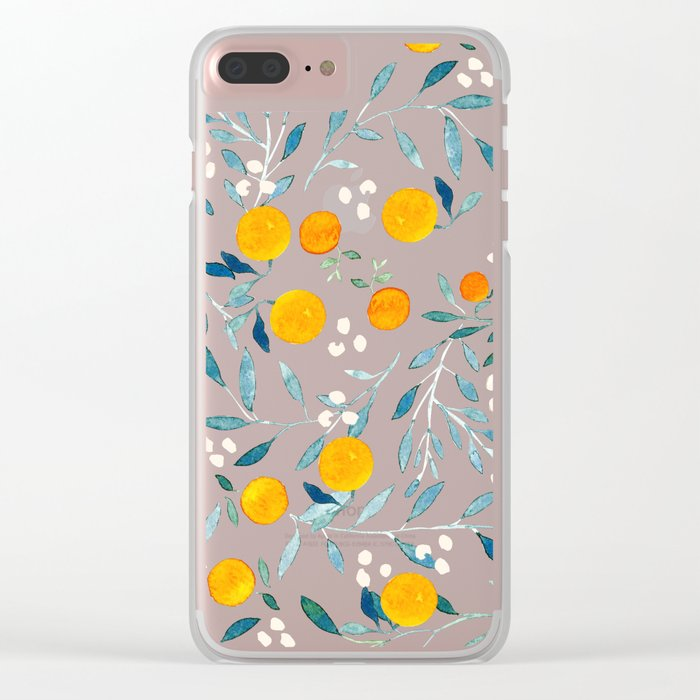 Orange Tree Clear iPhone Case