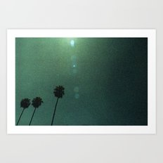 Grainy Palms Art Print