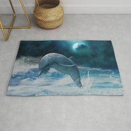 Freedom of dolphins Rug