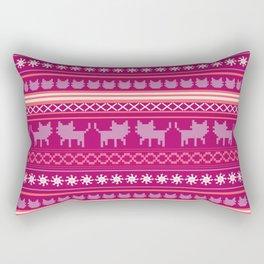 Ugly Christmas Cat Sweater Rectangular Pillow