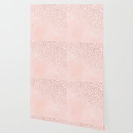 She Sparkles Rose Gold Pastel Light Pink Luxe Wallpaper