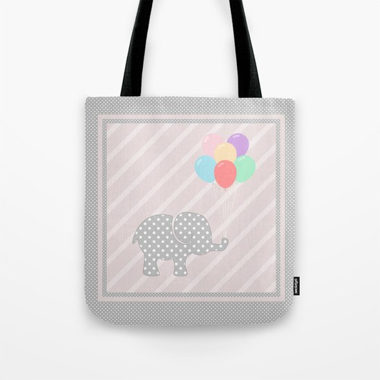 Elephant playing with balloons (children) Tote Bag