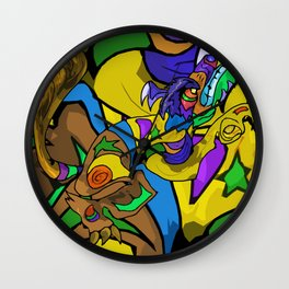 Wolf in Colors Wall Clock