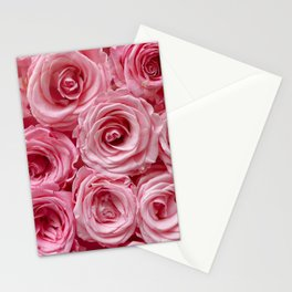 Pink Roses by Lika Ramati Stationery Cards