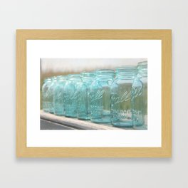 Blue Ball On the Horizon Framed Art Print