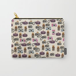 Vintage Camera Pattern Carry-All Pouch