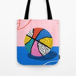 Dish - memphis art print, basketball art print, sports art print, 80s art prints, retro art Tote Bag