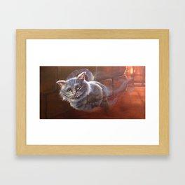 the chesire cat Framed Art Print