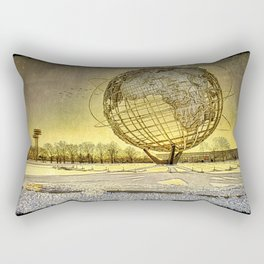 Unisphere Sunset Rectangular Pillow