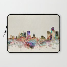 detroit michigan skyline Laptop Sleeve