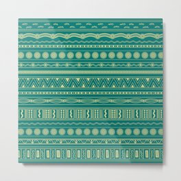 Set of Australian pattern Metal Print