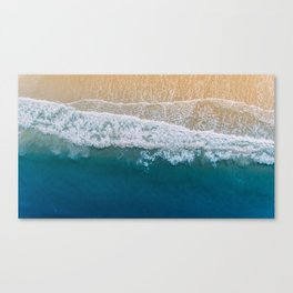 Water on the Beach (Color) Canvas Print
