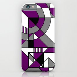 Ace Pride Purple Black White Gray Abstract Geometric iPhone Case