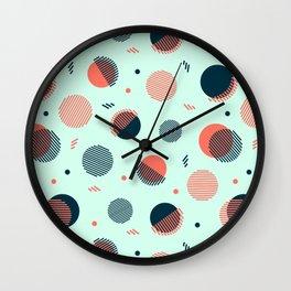 Mint Orbs Wall Clock