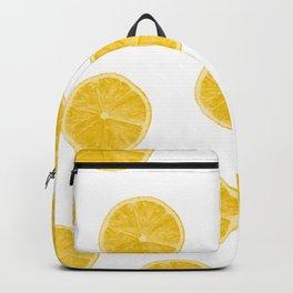 Fresh lemons background Backpack