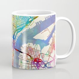 Philadelphia Pennsylvania City Street Map Coffee Mug