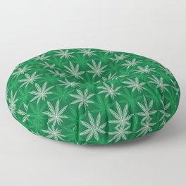 Green Pattern Floor Pillow