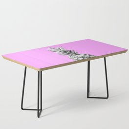 Black and White Pineapple Pink Background Coffee Table