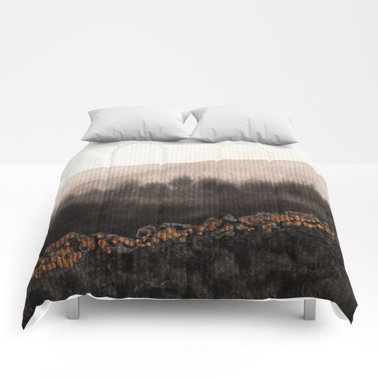 Watercolor abstract landscape 24 Comforters