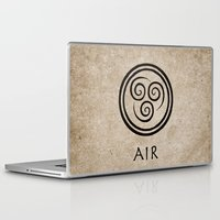 airbender Laptop & iPad Skins featuring Avatar Last Airbender - Air by bdubzgear