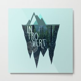 Introvert Metal Print