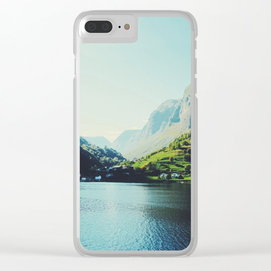 Mountains XII Clear iPhone Case