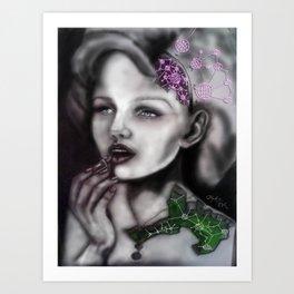 Mechanical Lady Art Print