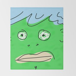 Green Monsta Throw Blanket