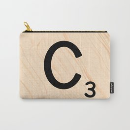 Scrabble Tile C - Large Scrabble Letters Carry-All Pouch