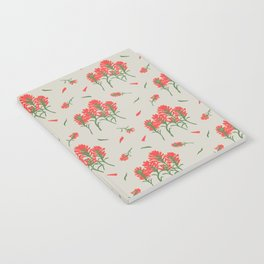 Floral-Indian Paintbrush-Gray Notebook