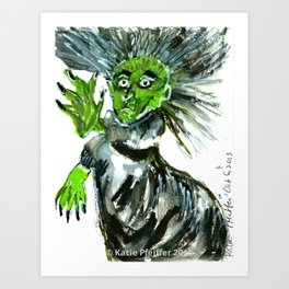 Pendle Hill Witch Number 10 Art Print