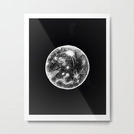 white moon Metal Print