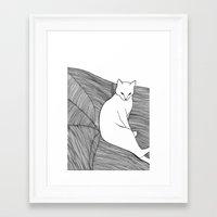 alisa burke Framed Art Prints featuring Alisa by Aleksandra Kabakova