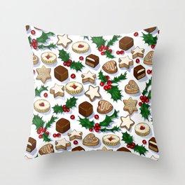Christmas Treats and Cookies Throw Pillow