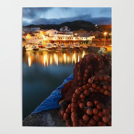 Fishing harbour Poster
