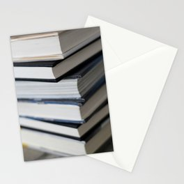 6 Books In A Stack Stationery Cards