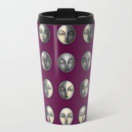 moon phases on dark purple Travel Mug