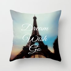 Dream Wish Go Throw Pillow