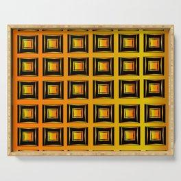 Rich coppery modern art deco pattern Serving Tray