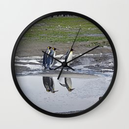 More King Penguin Reflections Wall Clock