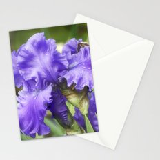 Purple Bearded Irises Stationery Cards
