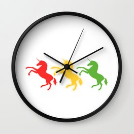 """A Perfect Gift For Anyone Who Loves Waiting Or Being On Standby """"Unicorn Mode On Standby"""" T-shirt Wall Clock"""