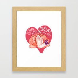 A Rough Valentine's Day Framed Art Print