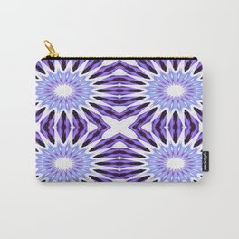 Pinwheel Flowers Violet Purple Carry-All Pouch