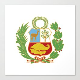 Peru Shield Canvas Print