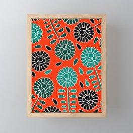 Floral contrast Framed Mini Art Print