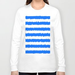 Blue Stripes Long Sleeve T-shirt